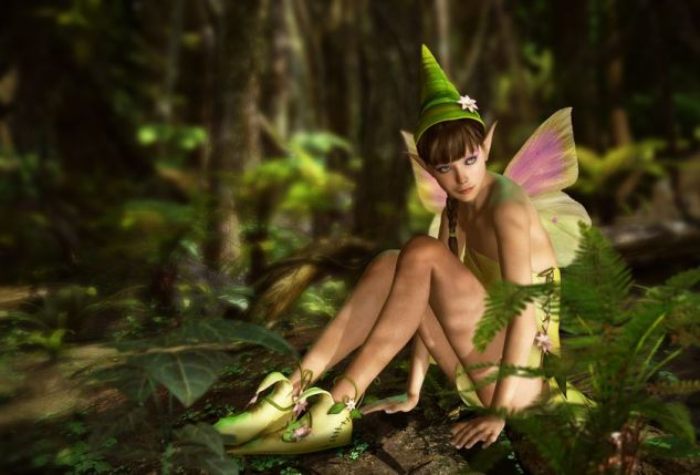 20332754 - 3d cg graphics jungle scene with charming fairy